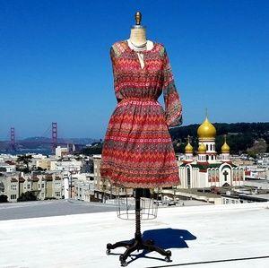 Diane von Furstenberg Silk Printed Dress, Sz 8/M